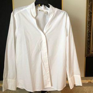 J Jill white Cotton blouse L